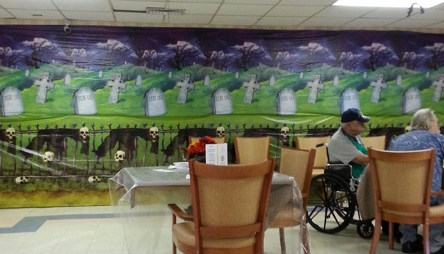Is This Retirement Home's Macabre Halloween Decor Hilarious or Horrifying?