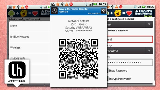 Wifi Joiner for Android Shares Your Wi-Fi Network with a QR Code