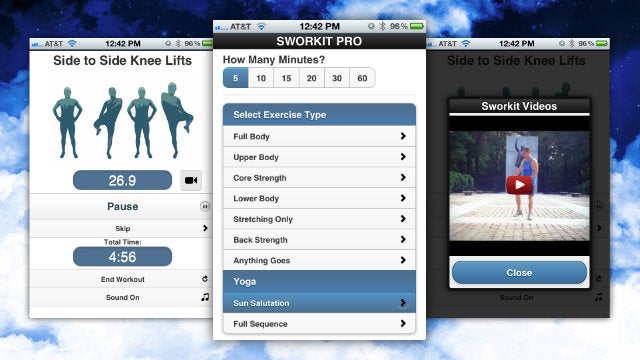 Sworkit Pro Talks You Through Randomly-Generated Exercise Routines Based on Your Preferences