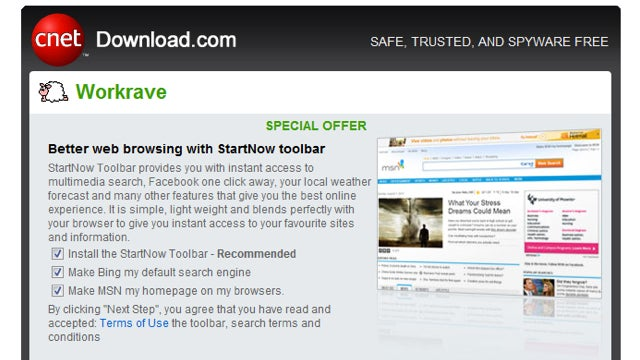 Download.com Adds Opt-Out Bloatware to Software Installers