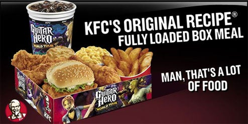 Guitar Hero World Tour Meets KFC In Heart Attack Tie-In