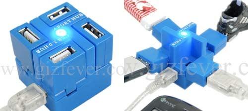 Cubic 4-Port Hub, USB Goes All Trendy Transformers