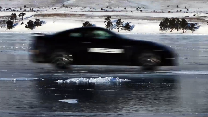 Watch An Unmodified Nissan GT-R Hit 183 MPH On Ice