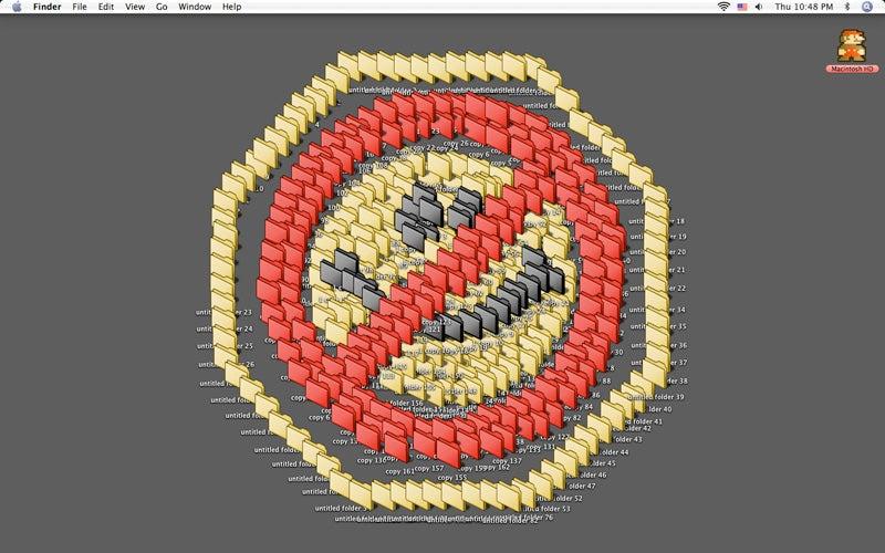 Purple Tentacle Takes Over Linux Desktop [Verdict: Great Start for Desktop Clutter Art Contest]