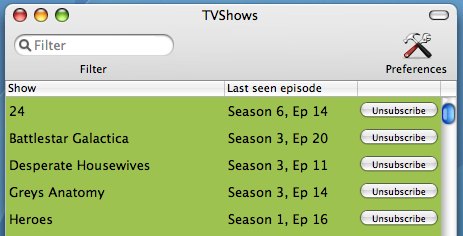 Download of the Day: TVShows (Mac)