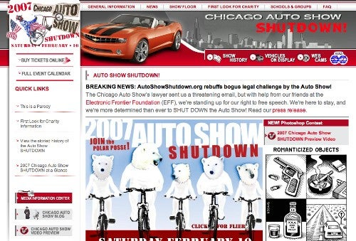 Go, Go, Mister Show! Group Wants to Shut Down Chicago Auto Show