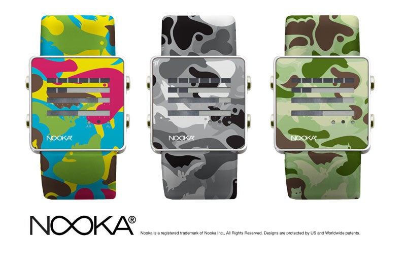 Creatures-of-the-Night Nooka Watches Have Camouflage, May Not Disappear on Your Wrist