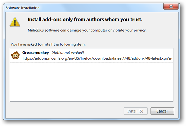 How To Bypass Firefox 4.0 Beta's Incompatible Add-on Error and Install Extensions Anyway