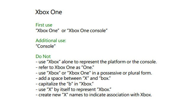 Here Are The Rules For What You Can (And Can't) Call The Xbox One