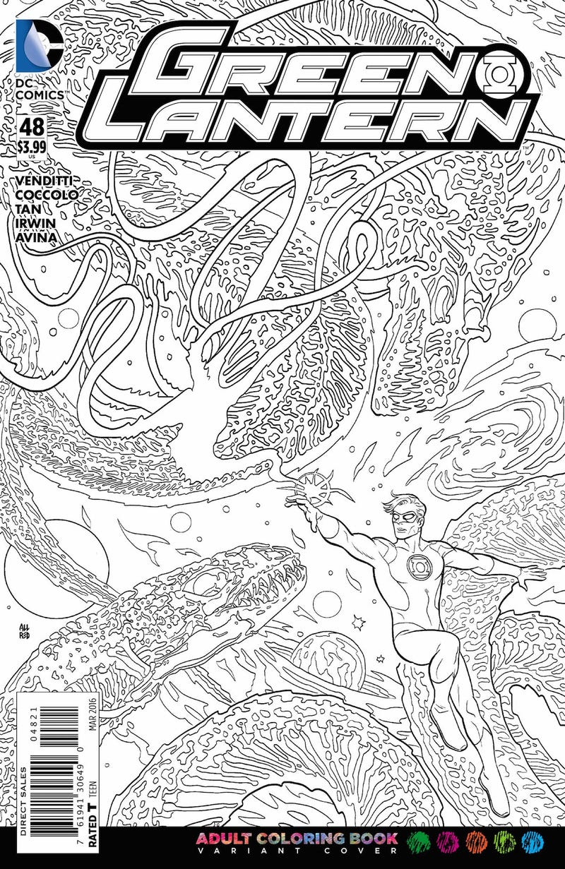 DC Comics Wants You To Color In Its New Comic Covers