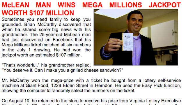 Marriott President's 25-year-old Son Wins $107 Million Lottery