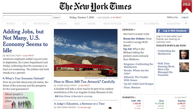 Make the NY Times Website Easier to Read with Ochs