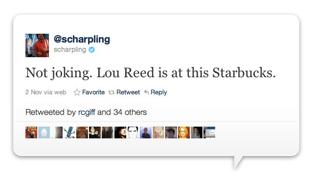 So Lou Reed Walks Into A Starbucks