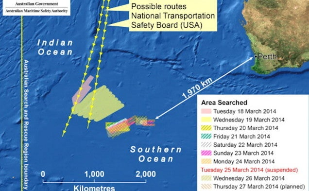Search for Missing Flight Shifts 700 Miles Northeast