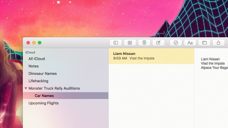 Nest Folders Inside of Folders in Apple Notes from the Mac App