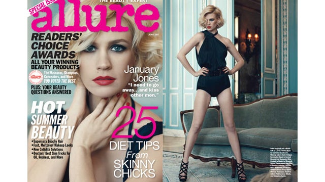 January Jones's Diet Includes Fast Food