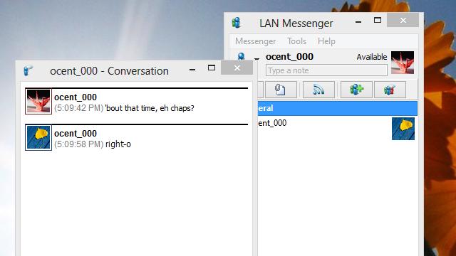 LAN Messenger Sends IMs Over a Local Network Sans Internet Connection