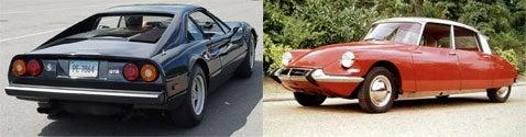 Ferrari 308 GTB vs. Citroen DS