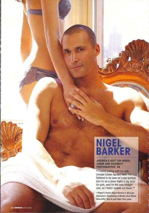 Naked In UK Cosmo: Nigel Barker, Stephen Baldwin, & Some Other Dudes' Pubes