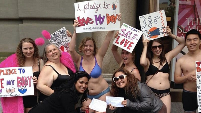 People Don Their Skivvies to Push for Body Diversity at Victoria's Secret