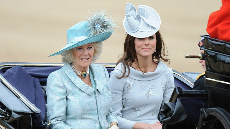Duchesses Camilla And Catherine Prefer Periwinkle