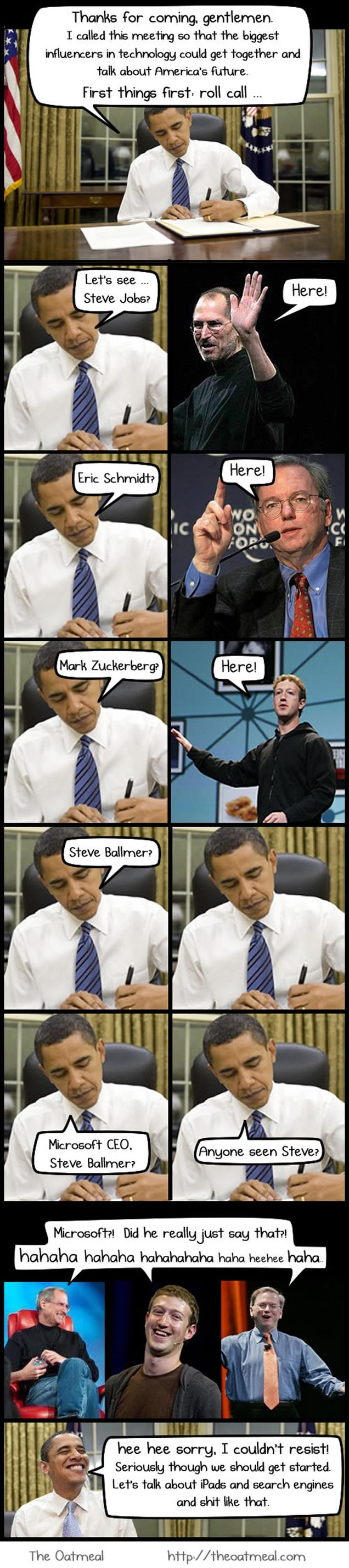 Hey, Why Is Obama Meeting With Jobs, Zuckerberg and Schmidt Tonight Anyway?
