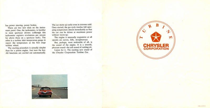 Chrysler Turbine Original Brochure