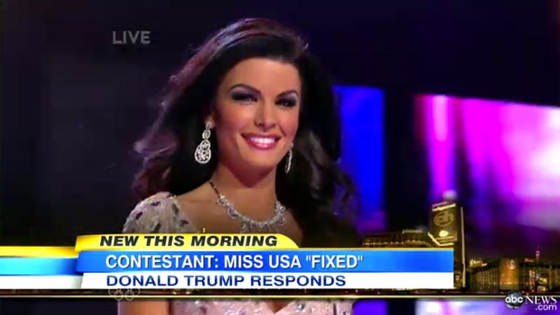 Contestant Accuses Miss USA Pageant of Being Fixed, Trump Says She's Jealous and Ugly
