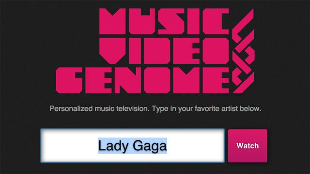 Music Video Genome is a Pandora For Music Videos