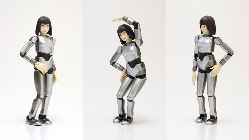 Japan's Real Robot Lady Turned into a Small Plastic Model