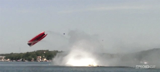 Everybody survived this crazy crash that flipped a speedboat in the air