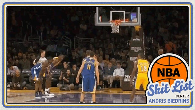 Deadspin NBA Shit List: Andris Biedrins, The Man Who Forgot How To Shoot