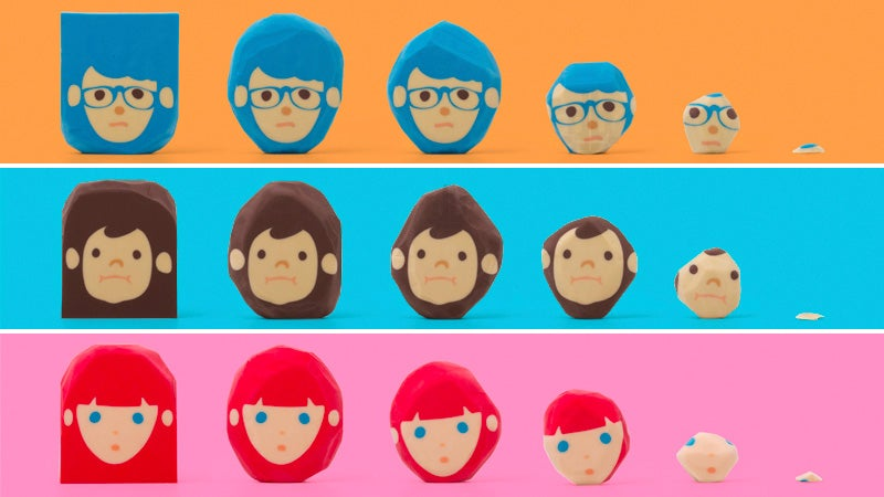 Rubber Barber Eraser Lets You Fix These Characters' Hairstyles While You Fix Mistakes