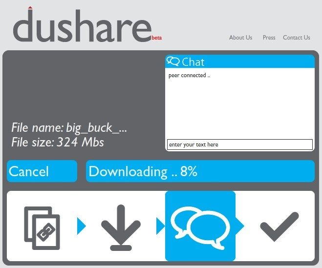 Dushare Is a Peer-to-Peer One Click File Sharing Solution