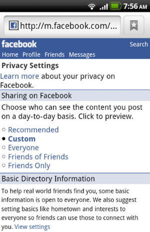Facebook Adds More Privacy Controls to Their Mobile Page