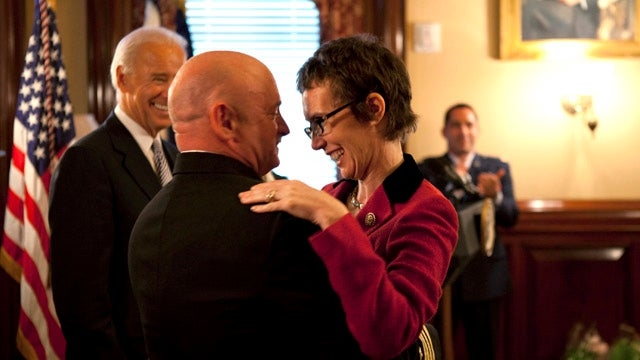 Gabrielle Giffords Was All Smiles At Husband's Retirement Ceremony