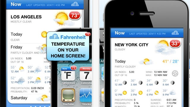 Fahrenheit Puts the Current Temperature on Your iPhone or iPad Home Screen