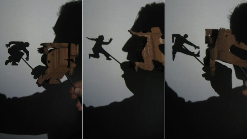 Incredible 3D shadow sculpture depicts the evolution of man from multiple angles