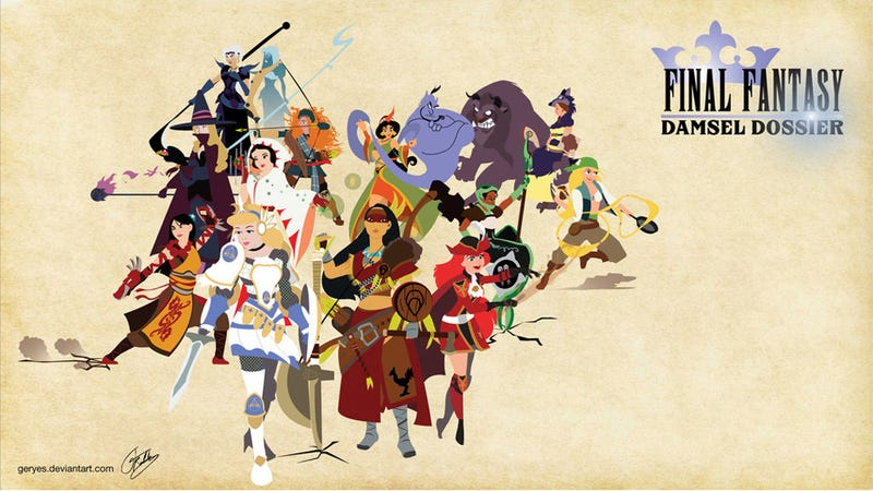 If Disney Princesses Were Final Fantasy Characters ...