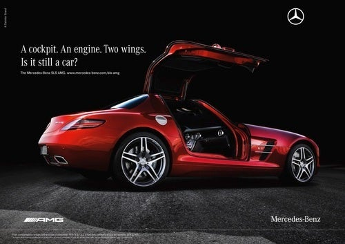 Saucy Schumi Drives SLS AMG Upside Down In New Ad