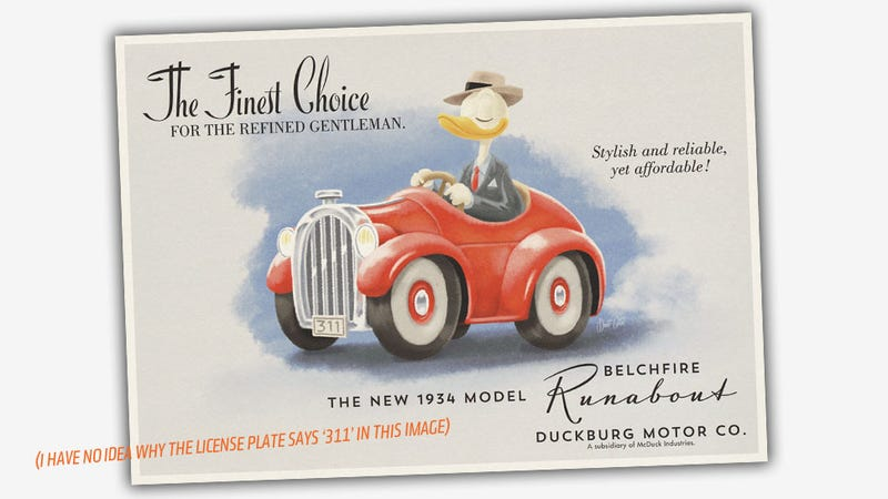 Everything You Urgently Need To Know About Donald Duck's Car