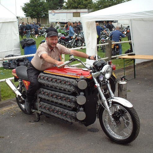 48-Cylinder Kawasaki Pushes Boundaries Of Sanity