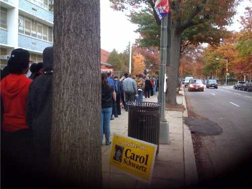 Electon Day Images: Yes We Can... Happily Wait In Line To Vote