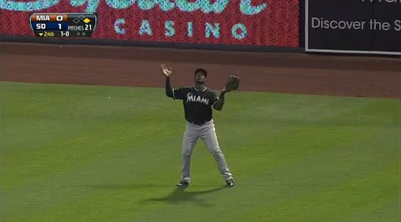 Marlins Outfielder Hilariously Loses Track Of Routine Home Run Ball