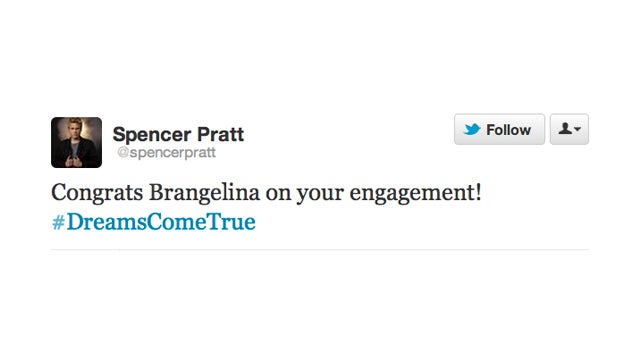 Brad and Angelina Getting Married Is a Spencer Pratt Dream Come True