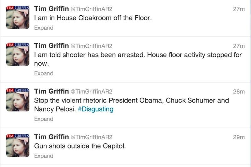 Ignorant Congressman, Hiding in Cloakroom, Already Blaming Democrats
