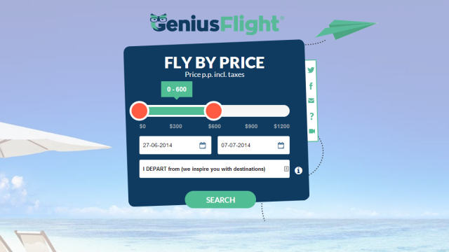 GeniusFlight Suggests Destinations Based on Your Airfare Budget