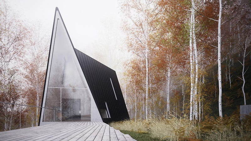 Minimalist A-Frame Cabin Is a Temple To Serenity and Relaxation