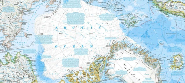 Melting Arctic Ice Is Drastically Changing National Geographic's Atlas