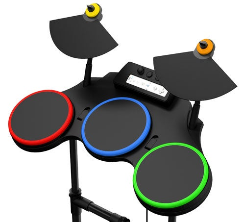 Guitar Hero World Tour Drum Controller Outdoes Rock Band